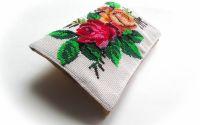 Roses   - geanta plic goblen cusut manual