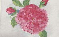 008 Servetel trandafir roz stilizat