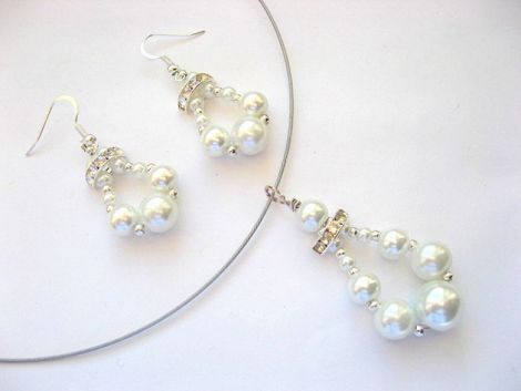 set perle sticla si cristale