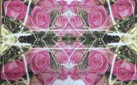 151 Servetel buchet de trandafiri roz