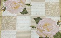 156 Servetel trandafir alb
