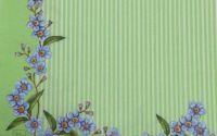 206 Servetel flori nu-ma-uita verde