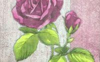 230 Servetel trandafir crackle