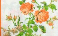 234 Servetel trandafiri portocalii