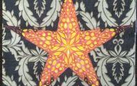 080  stea galbena pe fond negru