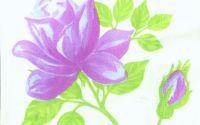 087 Servetel trandafir mov