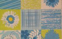 110 Servetel dungi si flori bleu