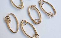 Linkuri metalice aurii x2buc