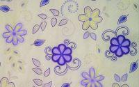 242 Servetel flori lila si galben