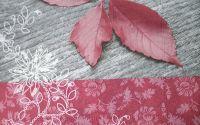 266 Servetel frunze rosiatice