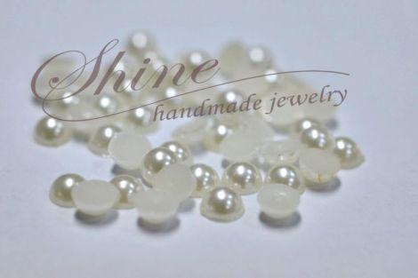 Cabochon perla acril 6mm