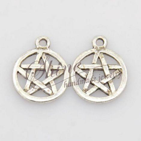 Pandantiv Pentagrama argintiu antichizat