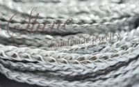 Snur impletit IMITATIE DE PIELE argintiu