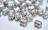 Distantier argintiu antichizat 6x5.5mm