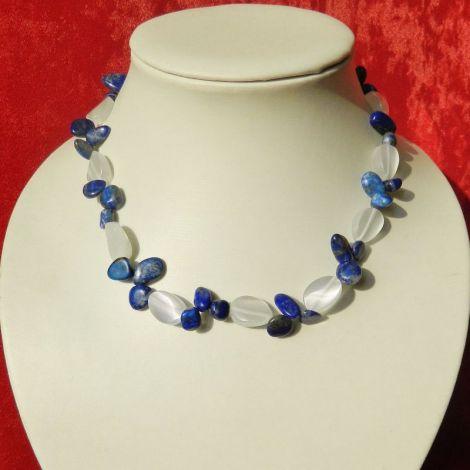 Colier opalit-lapis lazuli