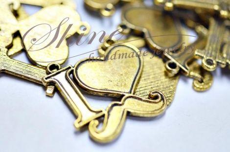 Link inima si mustata auriu antichizat