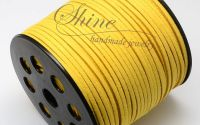Snur Suede galben 3.0x1.4mm