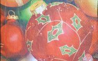 311 Servetel glob rosu cu verde