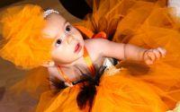 Rochie tutu portocalie pentru bebe