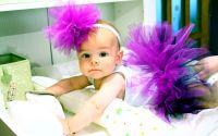 Fusta tutu pentru bebe BONUS - Pampon