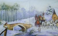 385 Servetel trasura cu cai prin zapada