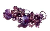 Cercei ciorchine cristale mov