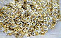 Lant din aluminiu argintiu combinat cu auriu