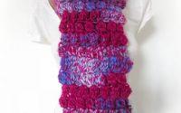 Titania  - fular colorat crosetat