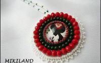 Pandantiv-colier alb-rosu.verde