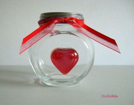 Borcan marturie inima sticla personalizat
