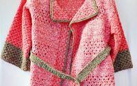 Jacheta roz crosetata