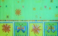 536 Servetel daisy pe fond verde