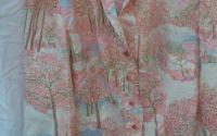 Bluza vintage camasa din matase artificiala
