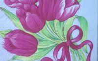 599 Servetel buchet de lalele roz