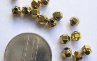 Hematit bobite fatetate aurii de 4mm x10buc