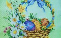 609 Servetel cos cu oua si flori