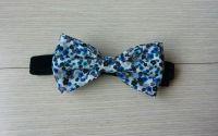 Papion albastru floricele