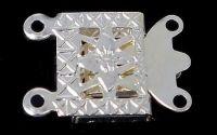 Inchizatoare argintie patrata 10 x 7 mm pentru dou