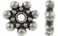 Distantiere floare argintiu antichizat 9 mm