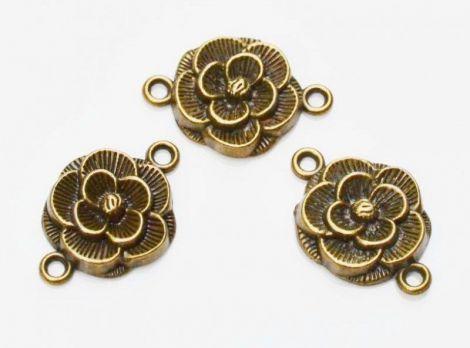 Link floare bronz antichizat 26 x 18 mm
