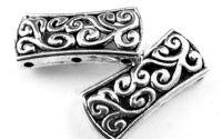 Conector argintiu antichizat 27 x 12 mm