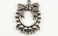 Conector argintiu coronita Craciun 15 anouri