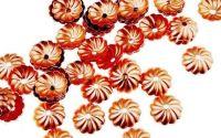 10 Capacele decorative floare cupru antichizat