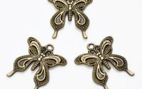Pandantiv fluture bronz antichizat 27 x 24 mm