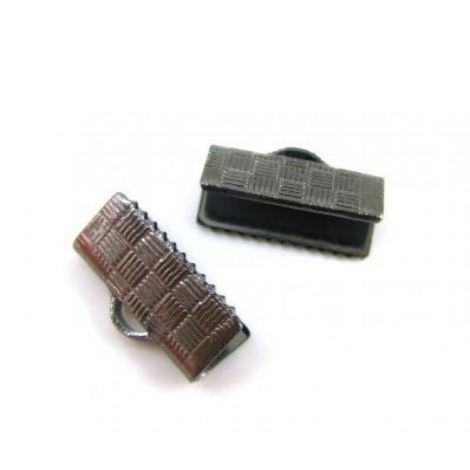 Capat de snur otel aspect gun metal 15 x 7 mm