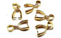 Agatatoare pandantiv placata cu aur 15 mm