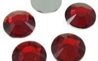 10 Margele imit cristal cabochon rosu 12 x 3 mm