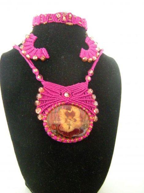 Set bijuterii micromacrame