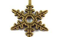 Charmpandantiv fulg de zapada bronz 23 x 17 mm