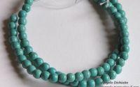 Margele turquoise 6 mm